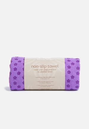 Terra Yoga Non-slip Yoga Towel Sport Accessories Purple