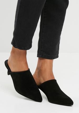 Vero Moda Olivia Leather Mule Heels Black