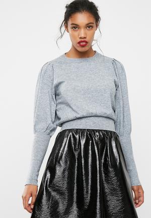Vero Moda Mace Balloon Knit Knitwear Grey