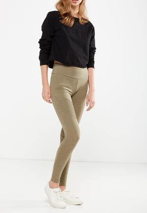 Cotton On Dakota Detail Leggings Trousers Khaki