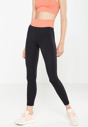 Cotton On Washed Back Sports 7/8 Tights Bottoms Black