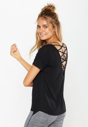 Cotton On Strap Back Tee T-Shirts Black