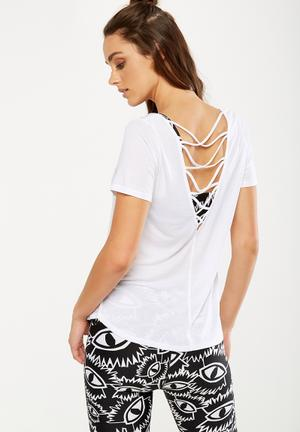 Cotton On Strap Back Tee T-Shirts White