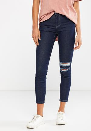 Cotton On Mid Rise Grazer Skinny Jeans Blue