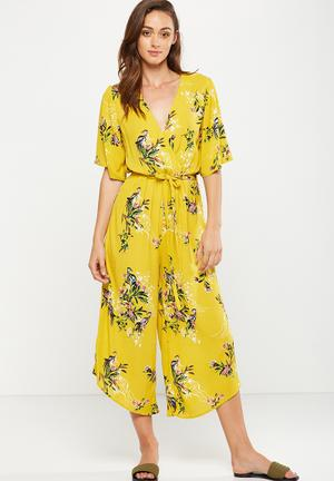 Cotton On Woven Angel Jumpsuit Yellow