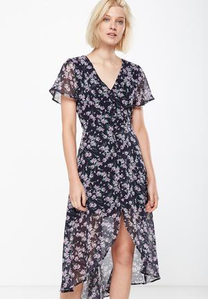 Cotton On Georgia Maxi Dress Casual Navy