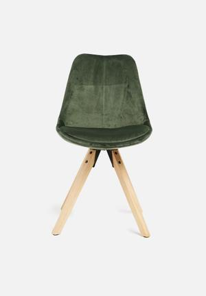 Sixth Floor Dima Upholstered Dining Chair Upholstered Fabric Seat, Solid Oak Legs - Oil Treated