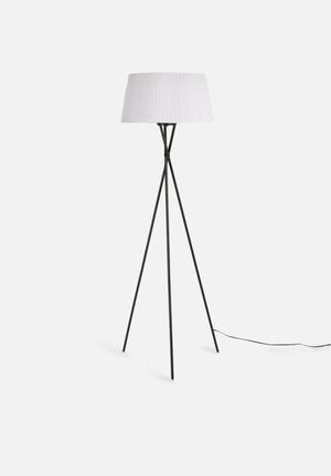 Illumina Tripod Floor Lamp Lighting Metal And Fabric