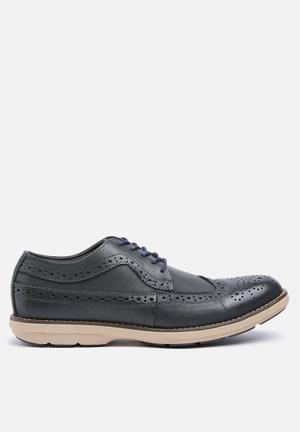 Watson Shoes Ruan Leather Formal Shoes Navy