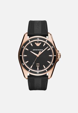Armani Sigma Watches Black / Rose Gold