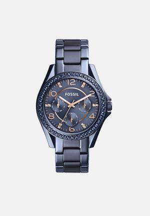 Fossil Riley Watches Navy