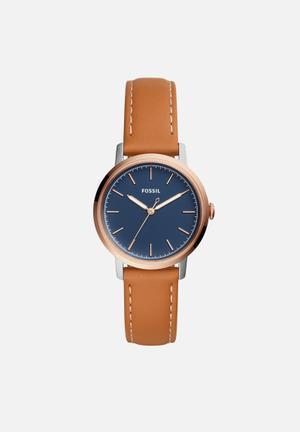 Fossil Neely Watches Navy & Tan