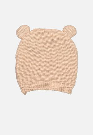 Cotton On Baby Knit Beanie Accessories Pale Pink