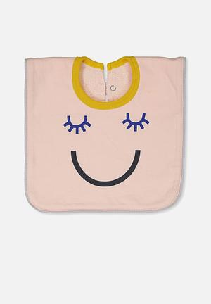 Cotton On Baby Hansel And Gretel Babies Bib Accessories Pink & Mustard