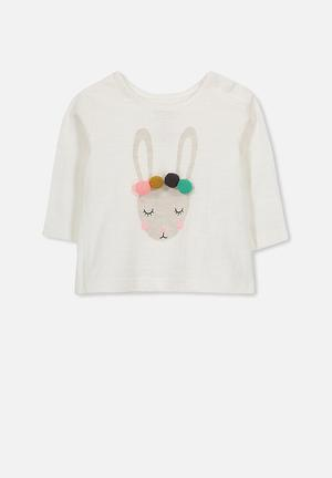 Cotton On Baby Ginger Ls Tee Tops White