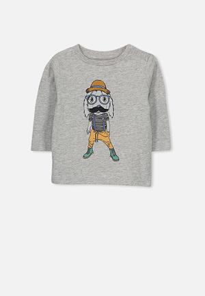 Cotton On Baby Freddie Tee Tops Grey