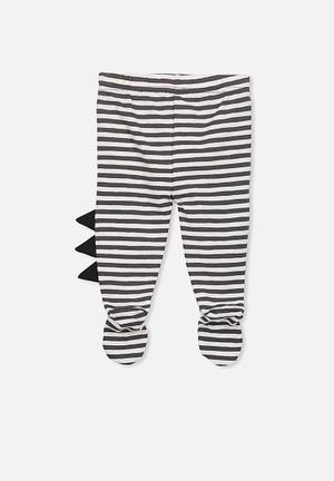 Cotton On Baby Aspen Footed Legging Pants & Jeans Black & White