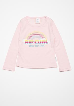 Rip Curl Rainbow Long Sleeve Tee Tops Pink