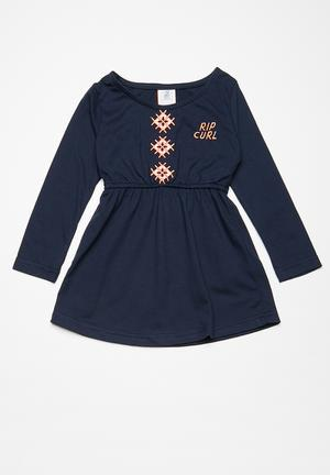 Rip Curl Mini Revival Dress Navy