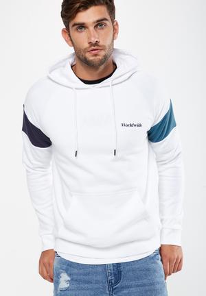 Cotton On Drop Shoulder Pullover Fleece Hoodies & Sweats White