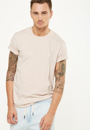 Cotton On Tbar Tee T-Shirts & Vests Pale Beige