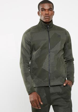 Nike Tech Fleece Sweat Top Khaki Green