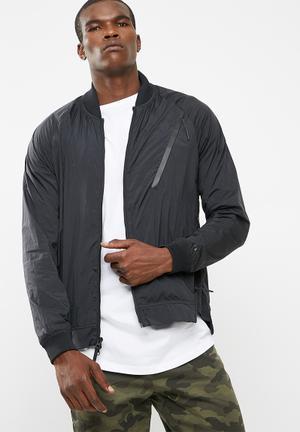 Nike NSW Tech Hypermesh Varsity Jacket Black