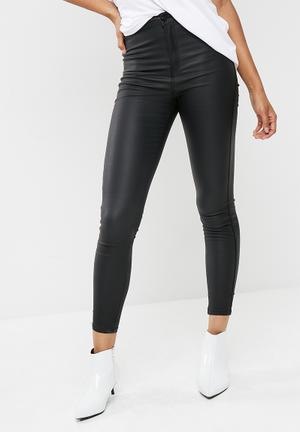 Black Vice high waisted coated skinny