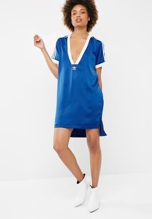 Adidas Originals Fashion League V-neck Tee T-Shirts Blue