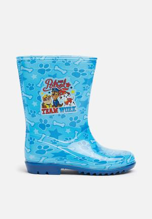 Character Fashion Kids Paw Patrol Wellington Boots Shoes