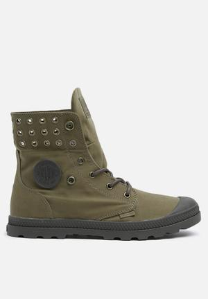 Palladium Baggy Low Supply Boots Olive