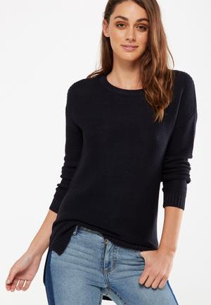 Cotton On Archy 4 Pullover Knitwear Dark Navy