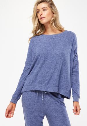 Cotton On Super Soft  Lounge Top Sleepwear Blue
