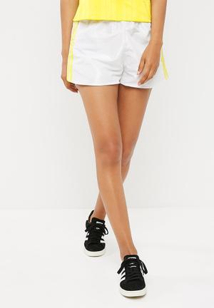 Adidas Originals Fashion League Shorts Bottoms White & Yellow