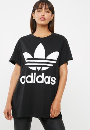 Adidas Originals Boxy Logo Tee T-Shirts Black