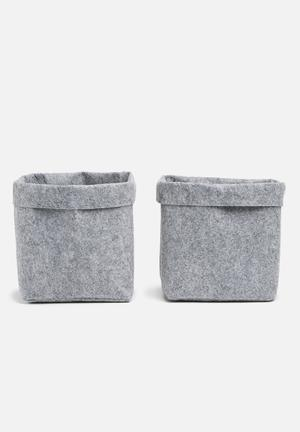 Felt storage box set