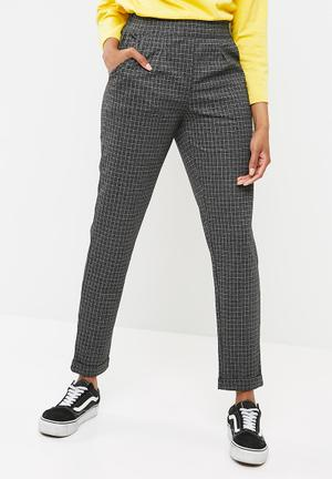 Pieces Daria Pants Trousers Grey Melange