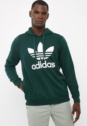 Adidas Originals Trefoil Hoodie Hoodies, Sweats & Jackets Green