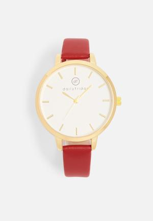 Alecia watch - red