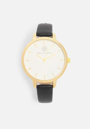 Alecia watch - black