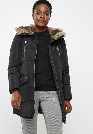 Vero Moda Serena Parka Coats Black