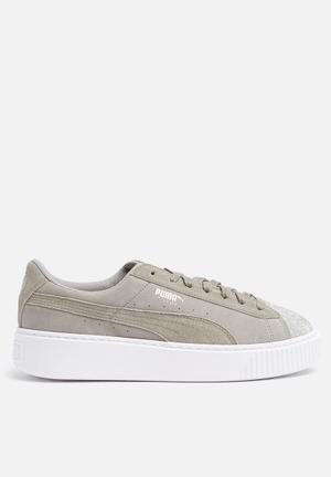 PUMA Suede Platform Sneakers Rock Ridge / Puma White