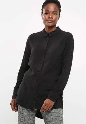 Jacqueline De Yong Togo Long Shirt Black