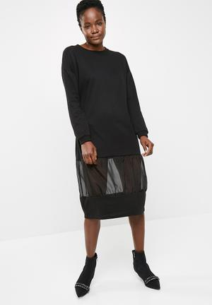 Noisy May Colette Contrast Sweat Dress Casual Black