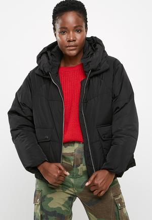 ONLY Gina Oversized Nylon Jacket Coats Black