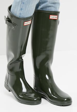 Hunter Original Refined Gloss Boots Olive