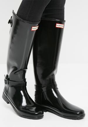 Hunter Original Tall Adjustable Ankle Strap Boots Black