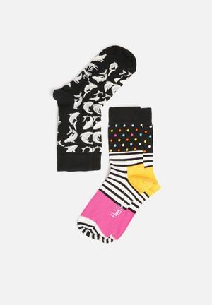 Happy Socks Kids 2pk Shark Socks Accessories Multi
