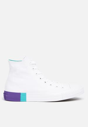 Converse Chuck Taylor All Star Sneakers Tri-Block-white/enamel/aqua/court Purple