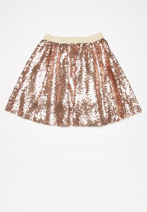 Dailyfriday Kids Sequined Party Skirt Bronze